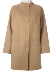 Piazza Sempione Single Breasted Coat Nude And Neutrals