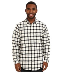 Filson Alaskan Guide Shirt Cream Black Men's Long Sleeve Button Up Bone