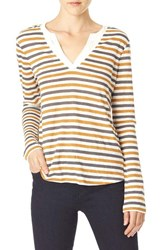 Sanctuary Women's 'Parisian City Mix' Layered Look Tee Spice Stripe