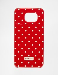 Cath Kidston Samsung S6 Mini Dot Phone Case Berry Red