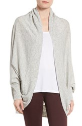 Nordstrom Women's Knit Cocoon Cardigan Grey Light Heather