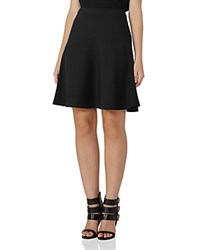 Reiss Ziggi Textured A Line Skirt Black