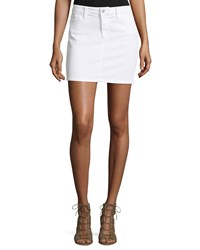 Joe's Jeans Annie Jean Mini Skirt White
