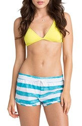 Junior Women's Billabong 'Jammin' Stripe Beach Shorts