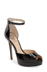Vince Camuto 'Lillith' Ankle Strap Platform Pump Women Black Patent Leather