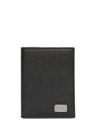 Dolce And Gabbana Dauphine Leather Folded Card Holder