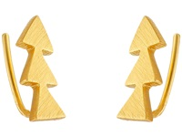 Gorjana Matte Triangle Ear Climber Earrings Gold Earring
