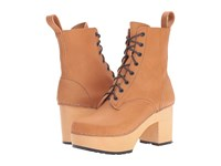 Swedish Hasbeens Lace Up Boot Nature Women's Lace Up Boots Neutral