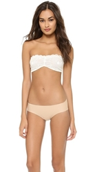 Free People Essential Lace Bandeau Bra White