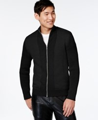 Inc International Concepts Yes Full Zip Sweater Only At Macy's Deep Black