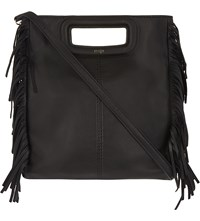 Maje The M Leather Cross Body Bag Black