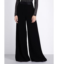 Opening Ceremony High Rise Wide Leg Satin Trousers Black