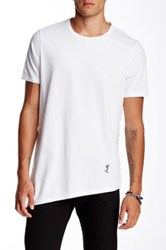 Religion Elongated Asymmetrical Crew Neck Tee White