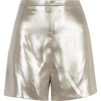 River Island Womens Silver Soft High Rise Shorts
