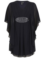 Izabel London Batwing Tunic With Sequin Detail Navy
