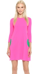Lisa Perry Circle Dress Hot Pink Green