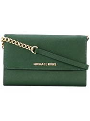 Michael Michael Kors 'Jet Set Travel' Wallet Crossbody Bag Green