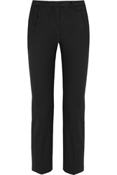 Victoria Beckham Chino Cropped Stretch Cotton Straight Leg Pants
