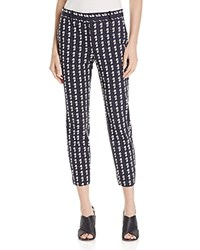 Theory Treeca 2 Printed Crop Pants Charcoal Navy