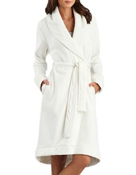 Ugg Heathered Shawl Collar Robe Cream