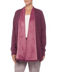Ugg Drape Front Long Sleeve Lounge Sweater Aster Heather