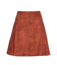 Stouls Suede Skirt Brown