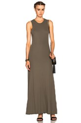 James Perse Long Flared Dress In Green