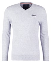 Superdry Jumper Egret Mottled Light Grey