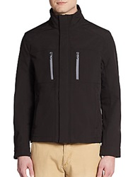 Kenneth Cole Reaction Zip Front Nylon Jacket Black
