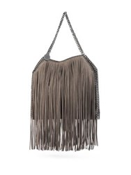Stella Mccartney Baby Bella Faux Suede Fringed Tote Coffee