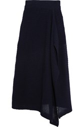 Marques' Almeida Ribbed Cotton Blend Skirt Navy