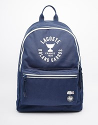 Lacoste Backpack Navy Blue