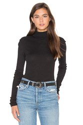 Lamade Sibel Mock Neck Tee Black