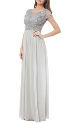 Js Collections Women's Embellished Chiffon Gown