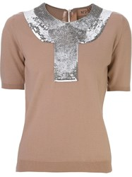 N 21 N.21 Sequin Embellished Sweater Pink And Purple