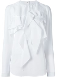 Viktor And Rolf Ruffled Longsleeved Blouse White