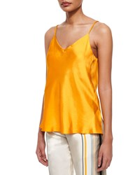 Rag And Bone Cove Sleeveless Silk Top Old Gold