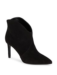 Saint Laurent Pointed Suede High Heel Booties Black