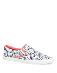 Bucketfeet Palm Leaves Slip On Sneakers Navy Blue
