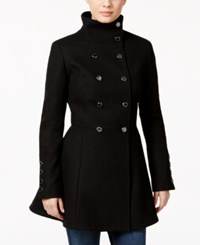 Calvin Klein Wool Blend Skirted Peacoat Black