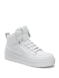 3.1 Phillip Lim Brogue Leather High Top Sneakers White