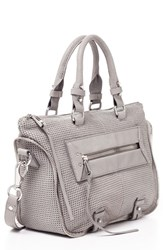 She Lo 'Mini Rise Above' Leather Satchel Grey Grey Perforated