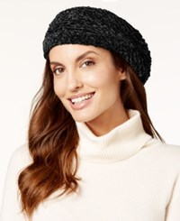 Charter Club Velvety Solid Chenille Beret Only At Macy's Black