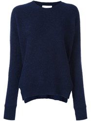 Forte Forte Side Slit Sweater Blue