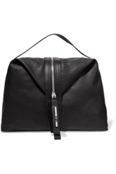 Mcq By Alexander Mcqueen Hobo Textured Leather Tote Black