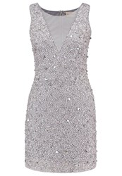 Lace And Beads Cocktail Dress Party Dress Grey