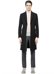 Faconnable Wool Coat With Contrasting Collar