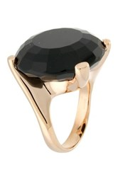 Milor Black Onyx Statement Ring Metallic
