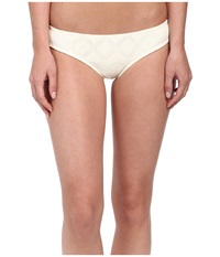 Roxy Lacy Days Cheeky Scooter Swim Bottom Crochet Sea Spray Women's Swimwear White