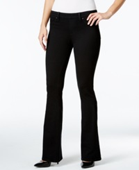 Style And Co. Flared Jeans Black Rinse Wash Only At Macy's